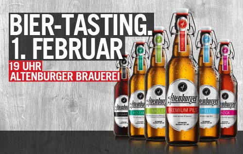 Biertasting in der Altenburger Brauerei