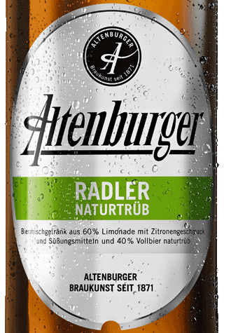 Label Altenburger Radler Naturtrüb